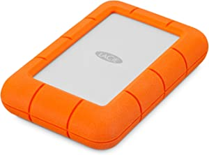 LaCie Rugged Mini 5TB External Hard Drive Portable HDD – USB 3.0 USB 2.0 Compatible, Drop Shock Dust Rain Resistant Shuttle Drive, for Mac and PC Computer Desktop Workstation PC Laptop (STJJ5000400)