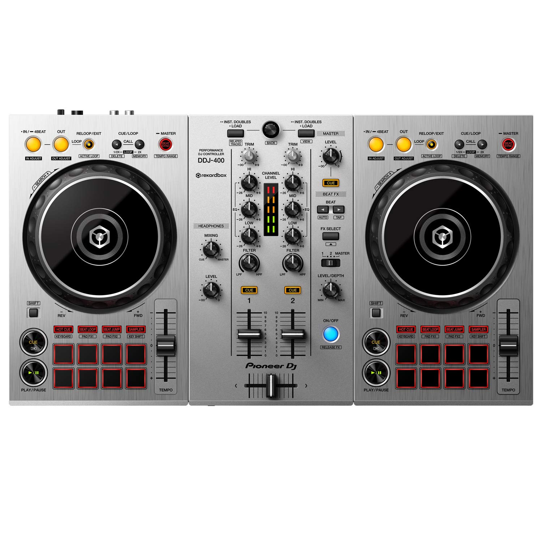 front facing Pioneer DJ DDJ-400-S