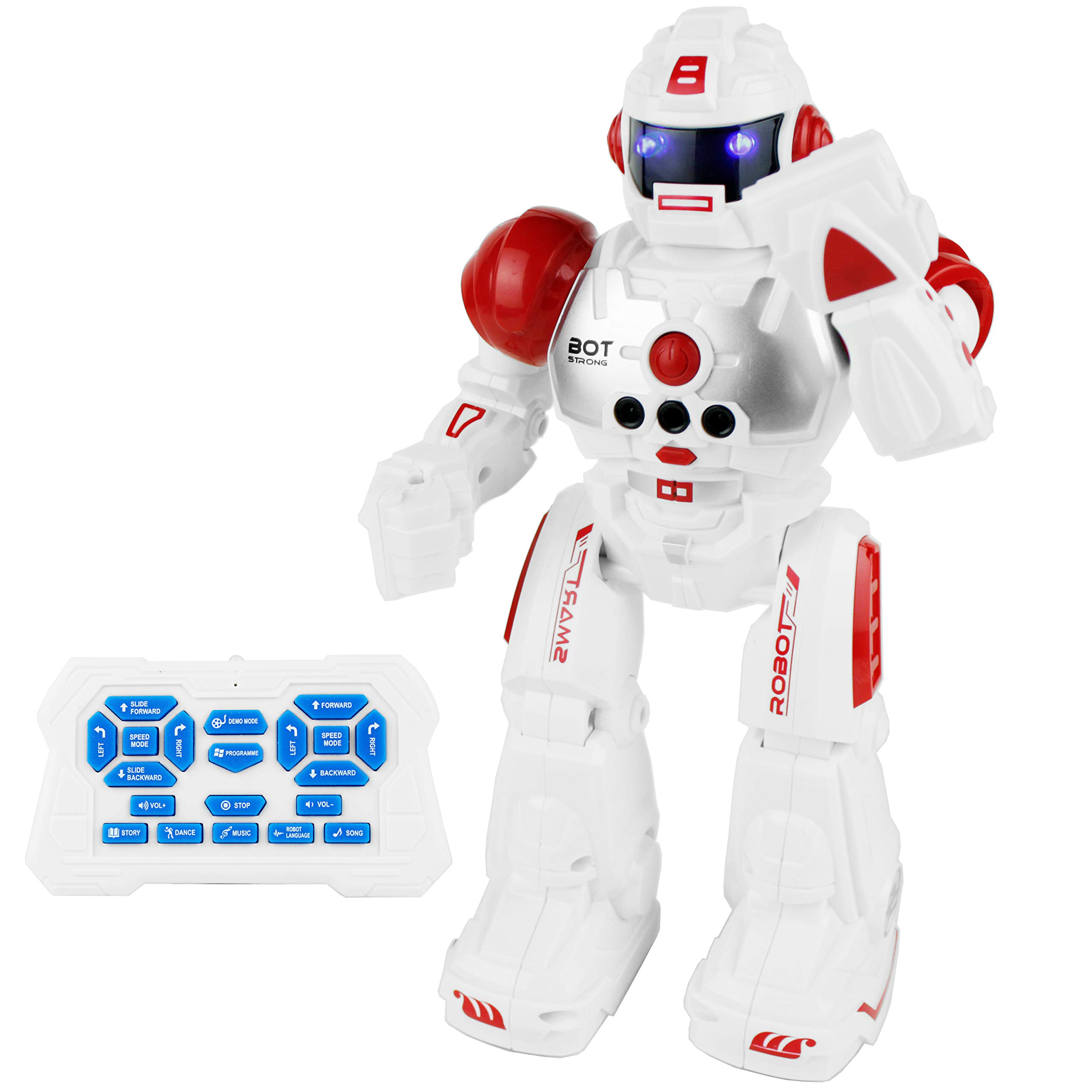 Boley 2099 RC Remote Controlled Robot for Kids - Intelligent Programmable with Infrared Controller Toys, Dancing, Singing, Talking Robot Friend Kids - Red by Boley (Image #1)