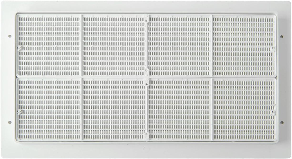wei/ß Die Bel/üftung par3823b L/üftungsgitter Kunststoff rechteckig 380/x 230/mm Einbauleuchte