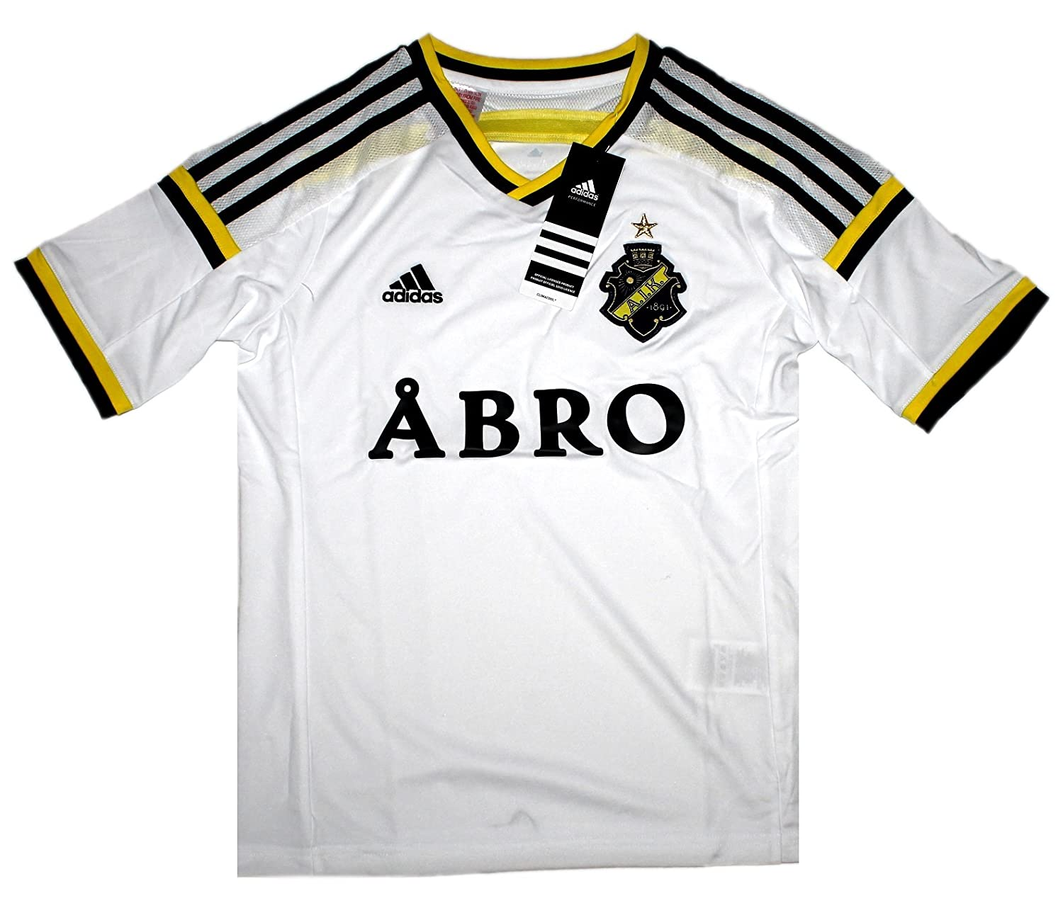 00f471db63a Adidas Children's Football Jersey AIK Solna A Jsy Y ClimaCool Jersey  Maillot Sweden Shirt D84862: Amazon.co.uk: Sports & Outdoors