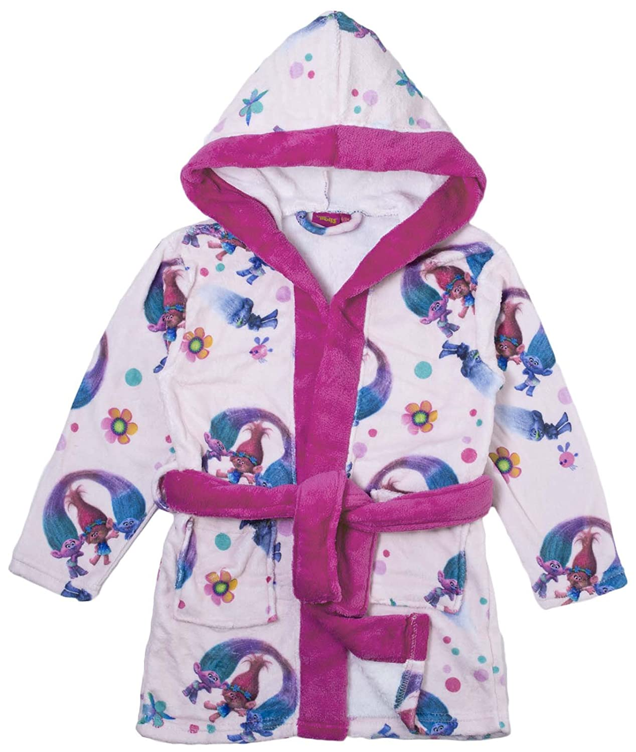 Trolls Girls Fleece Dressing Gown: Amazon.co.uk: Clothing