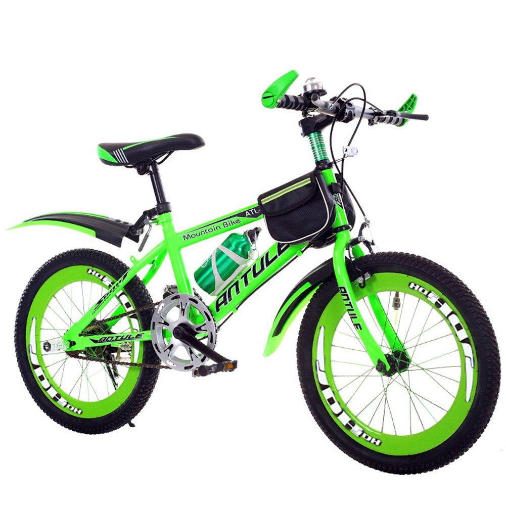 【特別訳あり特価】 CHS@ 子供の自転車6-7-8-9-10-11-12-15年の古いベビーキャリッジの男の子20/22インチの生徒のマウンテンバイク(ケトル付き) 子ども用自転車 (色 (色 : Green, サイズ : さいず さいず : 20