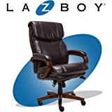La-Z-Boy Trafford Big and Tall Executive Office Chair with AIR Technology, High Back Ergonomic Lumbar Support, Brown…