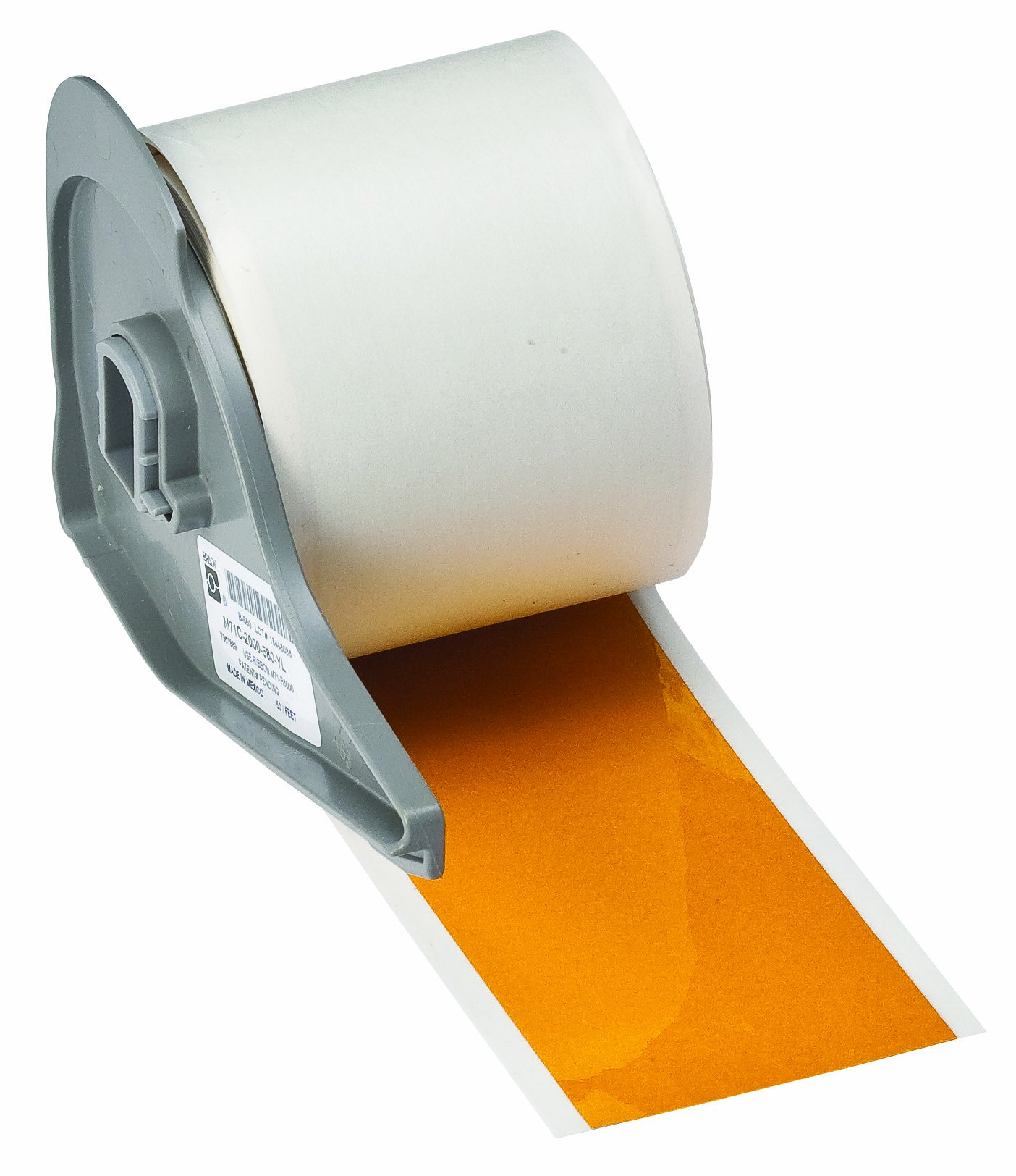 Brady BM71C-2000-584-YL Reflective Tape BMP71 Labels , Yellow (1 Roll, 1 Roll per Package)