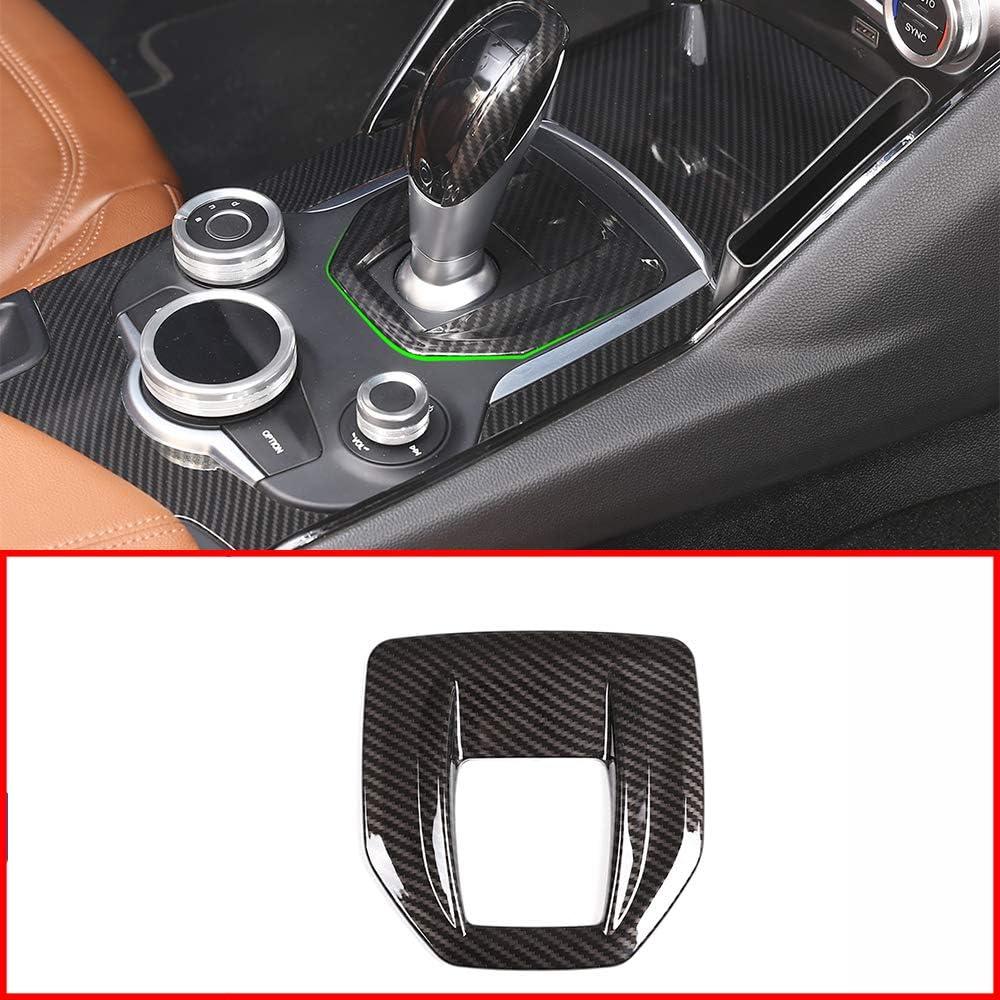 YUECHI Carbon Fiber Styling ABS for Alfa Romeo Giulia Stelvio 2017 2018 Interior Center Console Gear Shift Panel Cover Trim Sticker