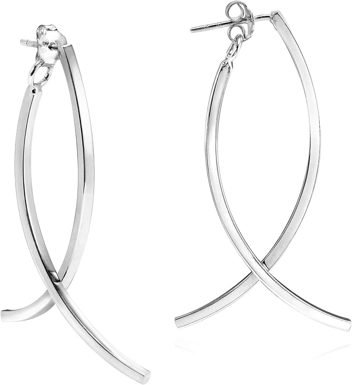 BA22 Fashion Silver Drop Earrings