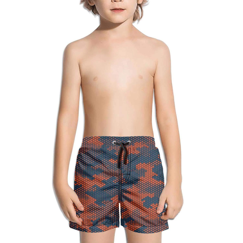 jhnkmmnc Camouflage Hexagonal Digital Technology Retro Adjustable Solid Board Swim Shorts