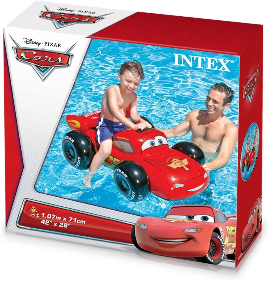 Intex 57516NP - Coche hinchable de licencia Cars para piscina 109 ...