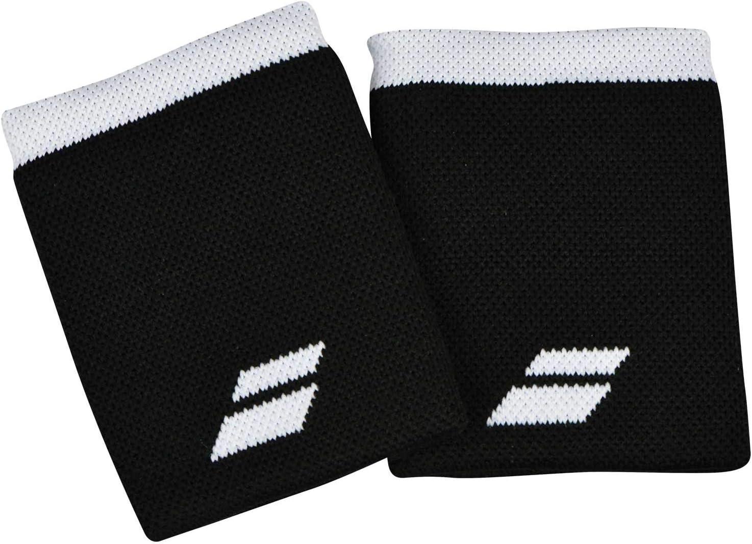 Babolat Logo Jumbo Wristband Muñequera, Adultos Unisex, Black/White (Multicolor), Talla Única: Amazon.es: Deportes y aire libre