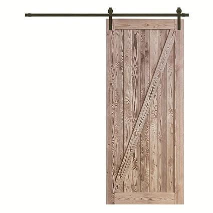 Ordinaire Reclaimed Wood Panel Barn Door Sliding Interior Door Slab With Hardware  Kit, 36/42inch