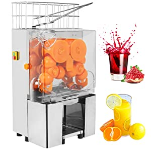 Orange Juicer Squeezer-SUNCOO Electric Commercial Citrus Juicer Machine Lemon Extractor 20-30 Oranges/Citrus/Pomegranate/Lime Per Minute -120W -Stainless Steel Tank Automatic Auto Feed 40-80mm