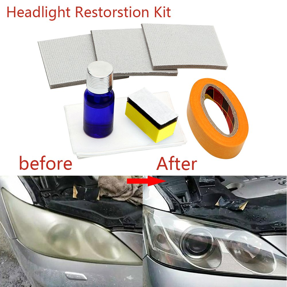 Guteauto Car Headlamp Polishing Anti-scratch DIY For Car Head Lamp Lense Increase Visibility Headlight Restorstion Kit Restores Clarity by Guteauto (Image #1)
