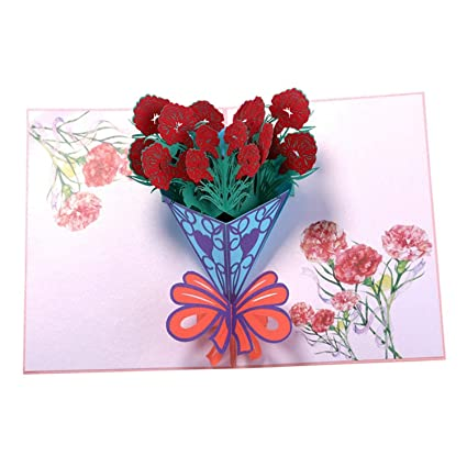 Amazon Com Lovefir Mother Day 3d Rose Patch Pop Up Card