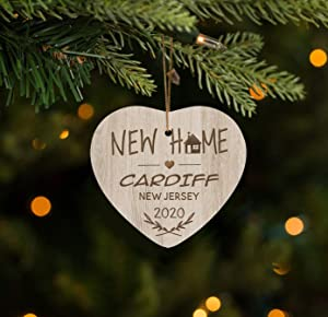 FamilyGift New Home Ornament Cardiff - City Ornament - Home Sweet Home Christma Ornament 2020-3 inches
