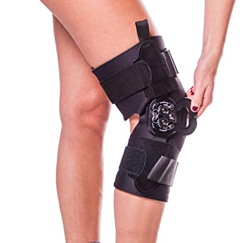 0e3e19f5a5 Image Unavailable. Image not available for. Color: Hyperextension Knee Brace  for Recovery & Prevention-XL
