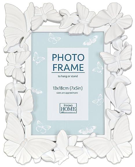 Innova Editions White Butterfly Frame 7x5/13x18cm: Amazon.co.uk ...
