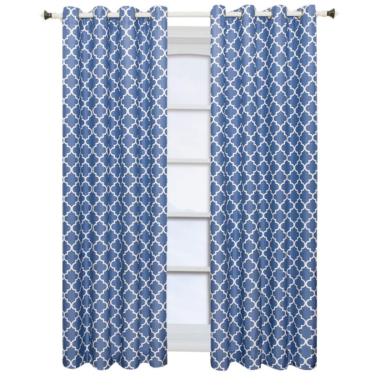 Purple- Thermal Insulated Room-Darkening Curtain Package contains set of 2 panels 84 inch long Set of 2 Panels 104Wx84L -Royal Tradition 52-Inch by 84-Inch each Panel Wholesalebeddings Meridian