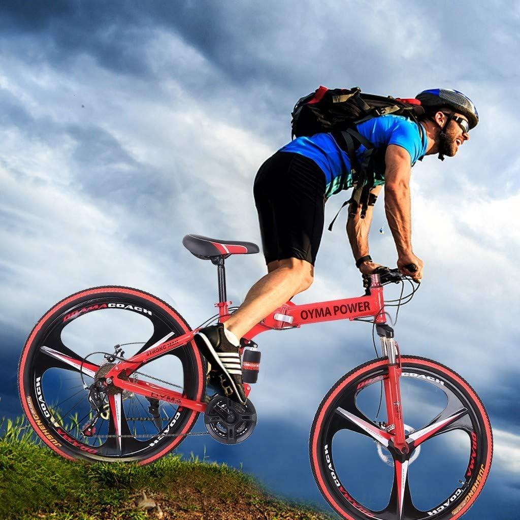 Shimanos 21 Speed Bicycle Full Suspension MTB Bikes for Men//Women Full Suspension Road Bikes with Disc Brakes 26in Folding Mountain Bike