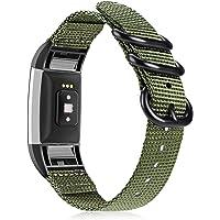 Fintie Armband voor Fitbit Charge 2, voor dames en heren, premium nylon, verstelbare reserveband met roestvrijstalen…