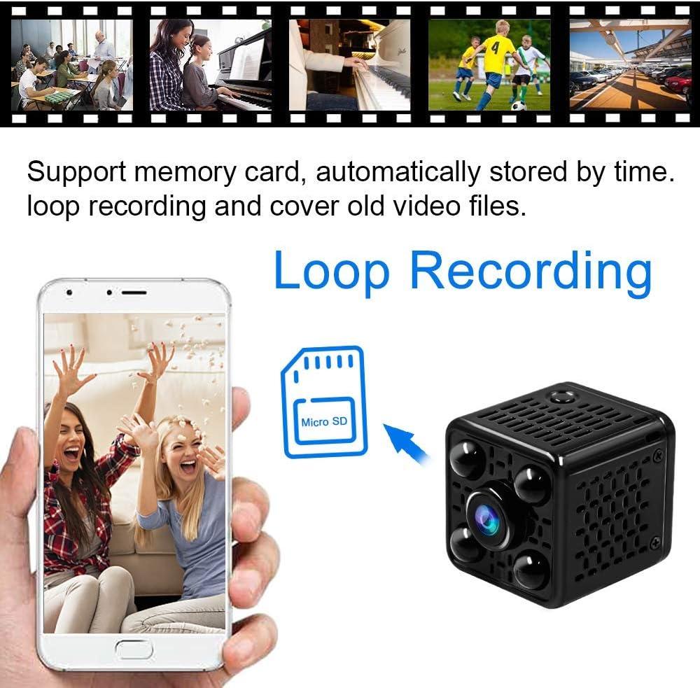 Mini Camera Espion,UYIKOO HD 1080P Camera Surveillance WiFi sans Fil Cam/éra Espion avec cam/éra de Surveillance de s/écurit/é /à Domicile de Vision Nocturne et D/étection de Mouvement