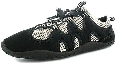 a74a9447314 Mens Black Lace Up Aqua Socks Beach Shoes - Black/Grey - UK SIZE 12 ...