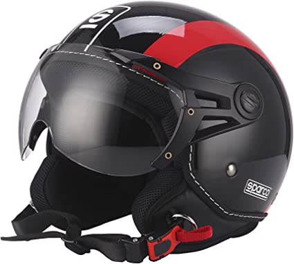 Amazon.es: Sparco Riders Casco 501 Negro/Rojo, talla M