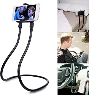 B-Land Cell Phone Holder, Universal Mobile Phone Stand, Lazy Bracket, DIY Flexible Mount Stand with Multiple Function (Black)