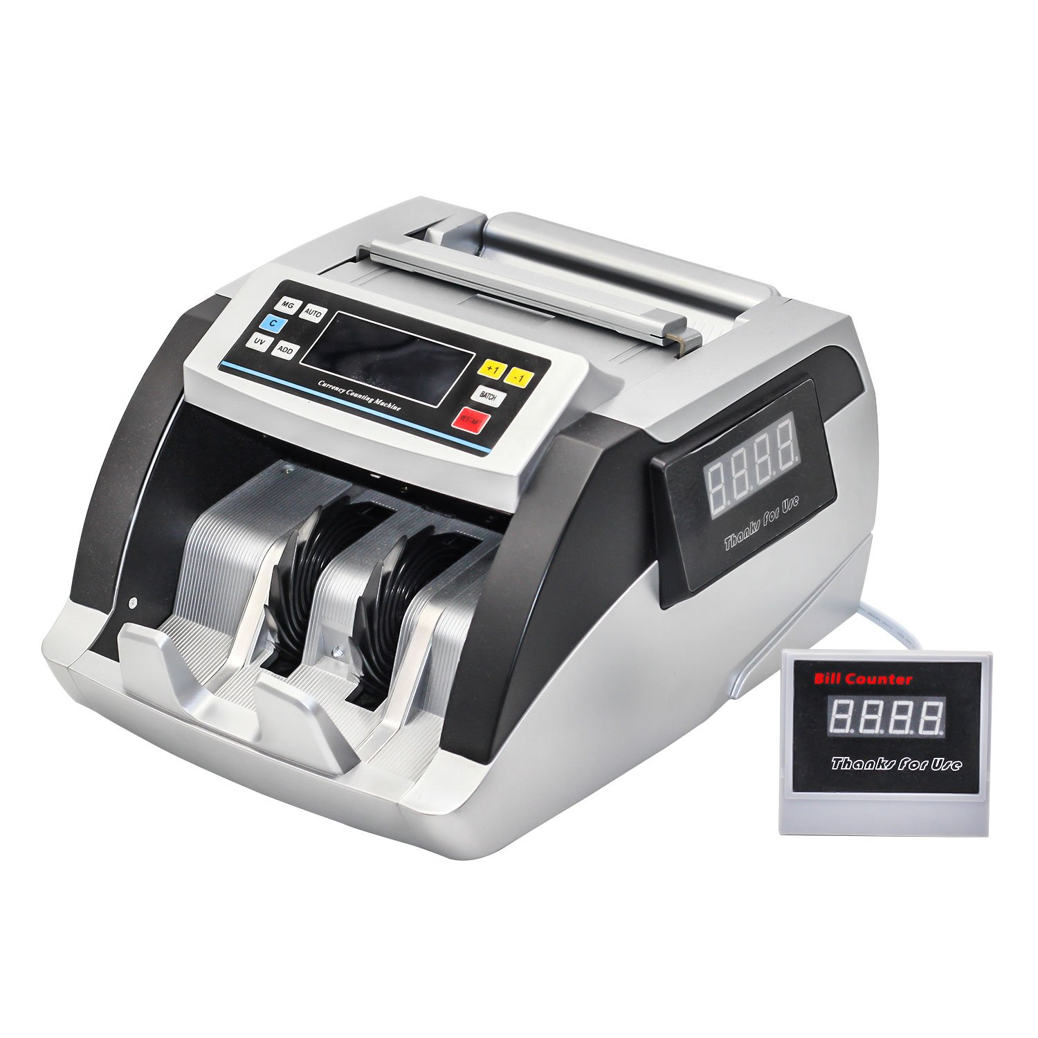 Bill Money Counter Worldwide Currency Cash Counting Machine UV & MG Counterfeit (Elite)