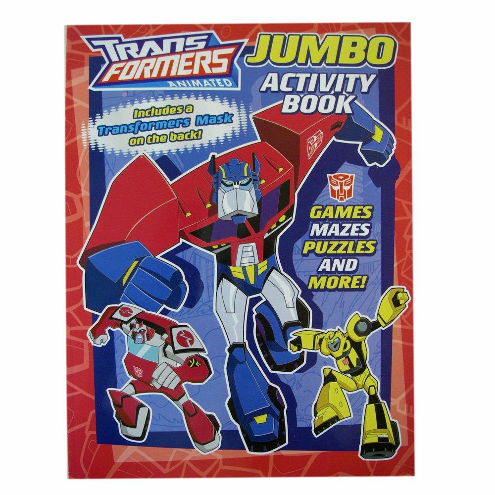 amazoncom transformers coloring book hasbro transformers jumbo coloring and activity books with bonus mask 1 book toys games - Transformers Coloring Book