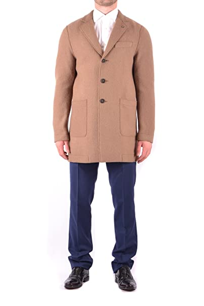 MANUEL RITZ - Abrigo - para hombre marrón Tamaño de la marca 52: Amazon.es: Ropa y accesorios