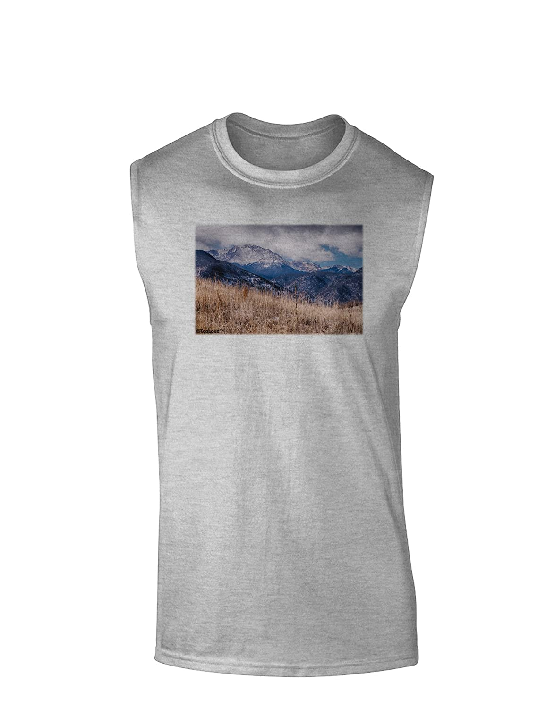 TooLoud Pikes Peak CO Mountains Muscle Shirt
