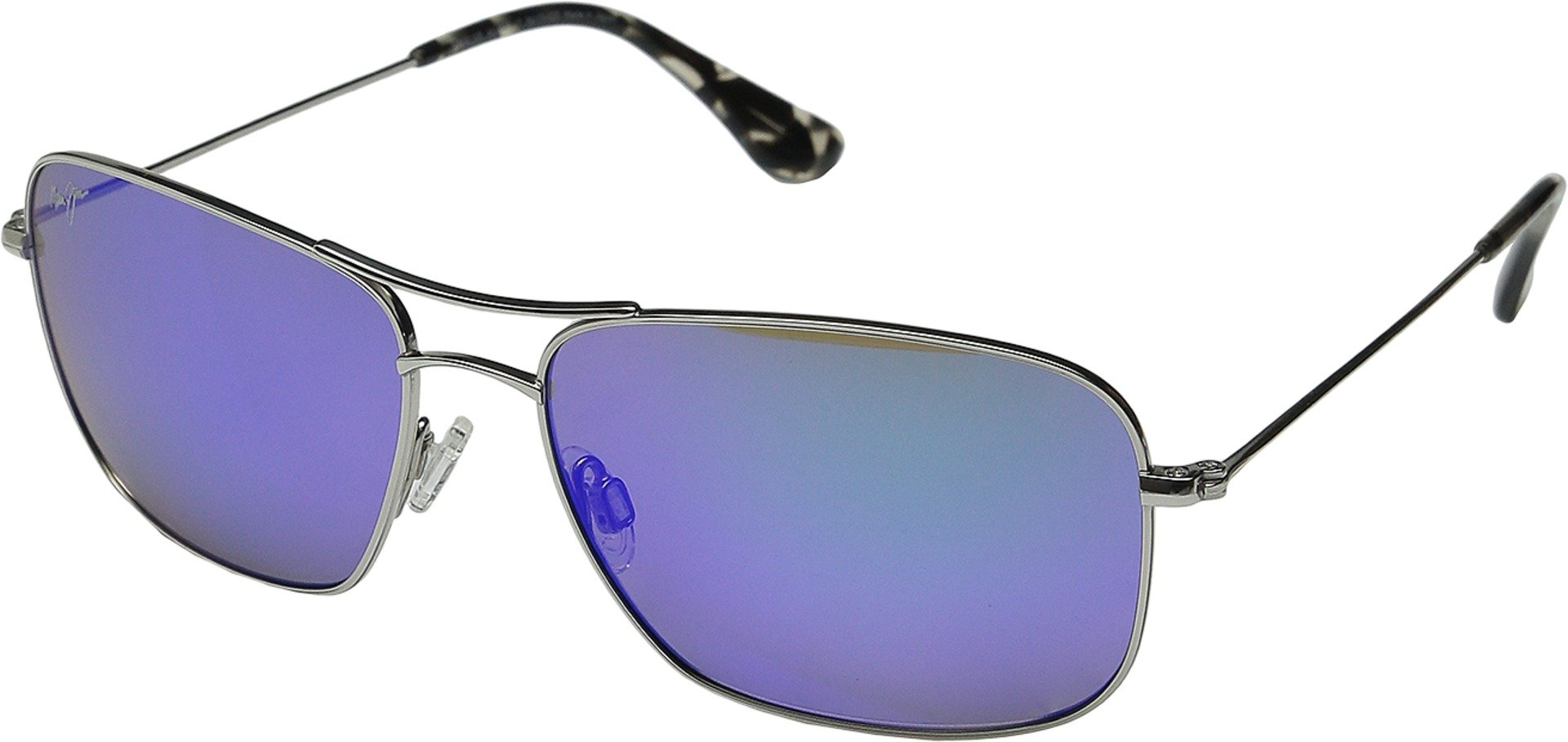 Maui Jim Wiki Wiki Polarized Sunglasses Silver / Blue Hawaii One Size