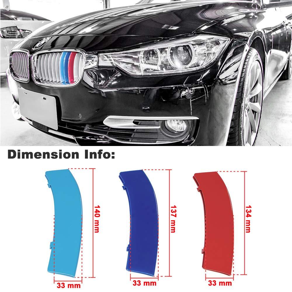 M-Color ABS Grill Stripe Inserti Rene Grilles (F30 / F31 (3er) e F32 / F33 (4er) -11 Travi) - 11 Travi) FinBot