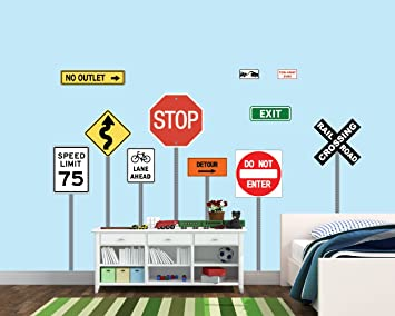 Well-known Amazon.com: Kids Wall Stickers, Stop Sign Stickers, Traffic Sign  SP69