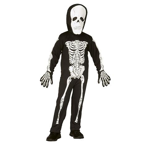 Costume Bambino Scheletro Taglia 110 cm   116 cm (3 5 Anni)  Amazon.it   Giochi e giocattoli c415874883c
