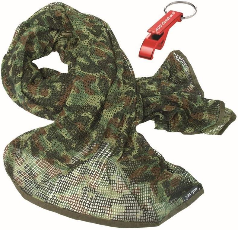 AOS-Outdoor Army NETZSCHAL TARNSCHAL 190 x 90 cm 8 Farben Flaschen/öffner !