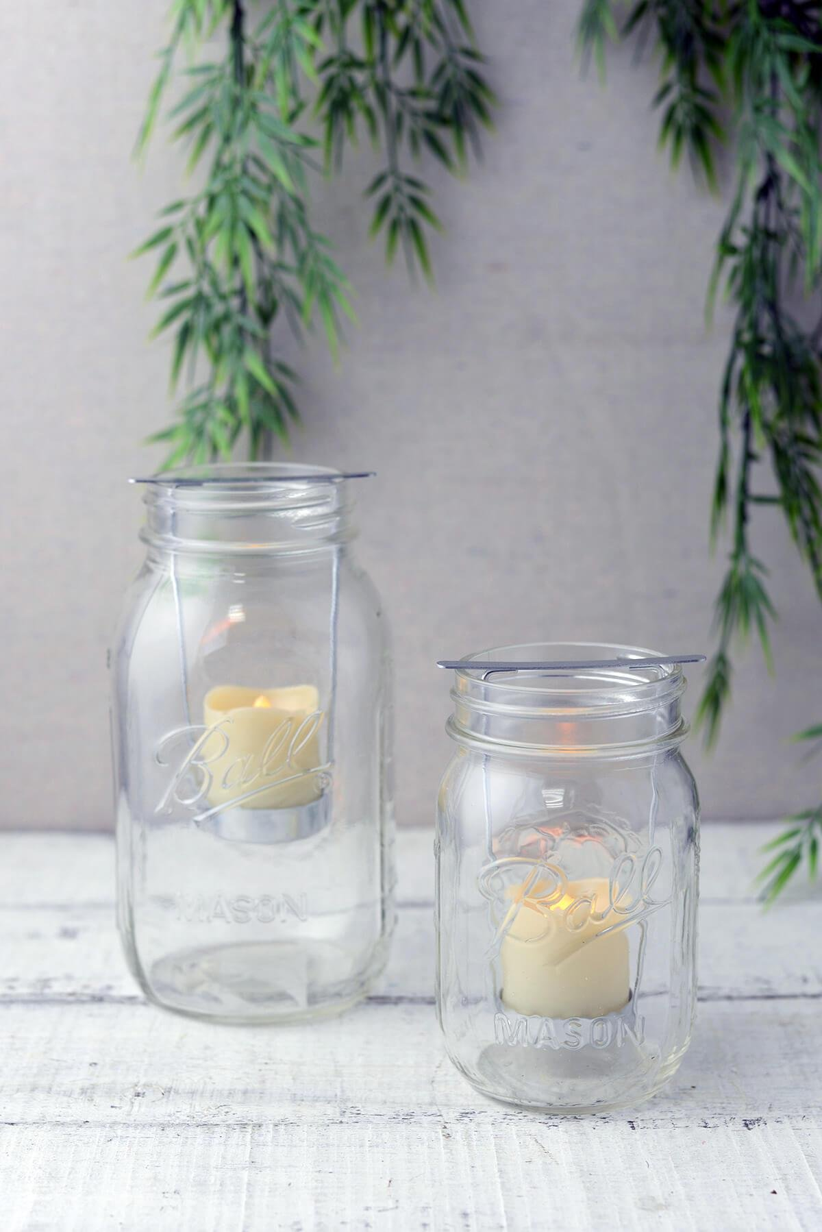 Richland Mason Jar Battery Operated Votive Candles & Holders with Timer Set of 72