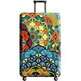 "Xinvivion Thicken Anti-Scratch Luggage Cover Protector Kaleidoscope Pattern Suitcase Cover (NOT SUITCASE) Suitable for 18""-32"" (Size S/M/L/XL)"