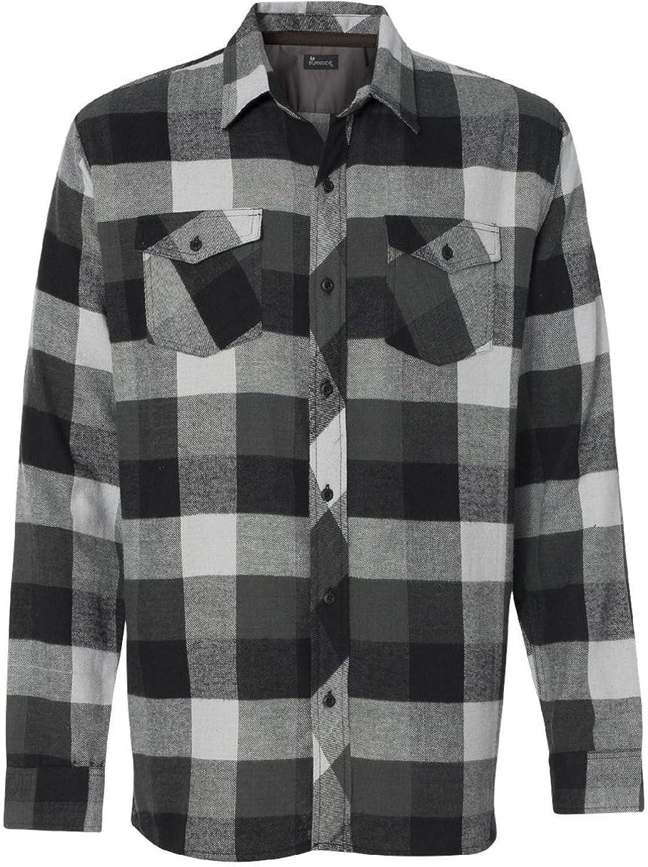 Amazon.com: Burnside Mens Long Sleeve Button Down Flannel Shirt ...