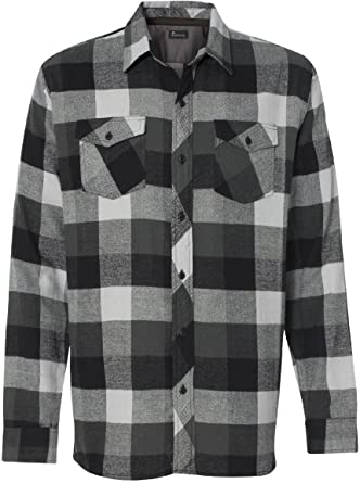 Amazon.com: Burnside Mens Long Sleeve Button Down Flannel Shirt ...