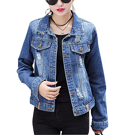 Amazon.it: giacca jeans donna corta