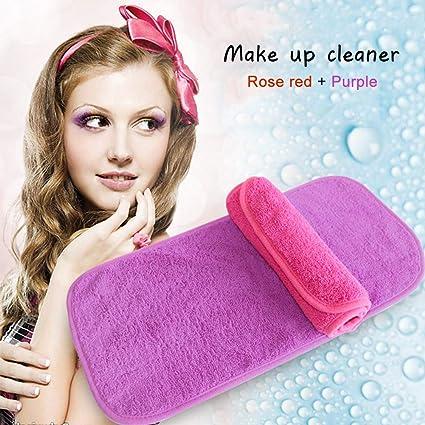 Paño para quitar maquillaje, 2 unidades, sin productos químicos y antibacteriano, de microfibra