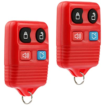 Key Fob Keyless Entry Remote fits Ford, Lincoln, Mercury, Mazda Mustang (Red), Set of 2: Automotive