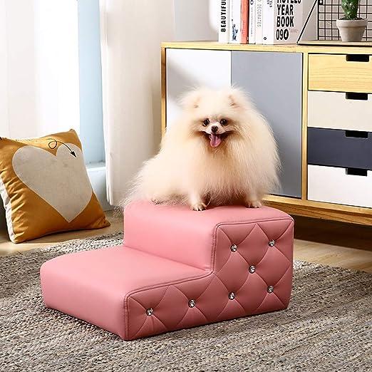 LLHYOO Escalera para Mascotas, Escalera de sofá Esponja Escalera de Cama Cojín Perro pequeño Escalada Gato Perro Escalera Estera Pet (Color : Rosado, Size : 69 * 40 * 33cm): Amazon.es: Productos para mascotas