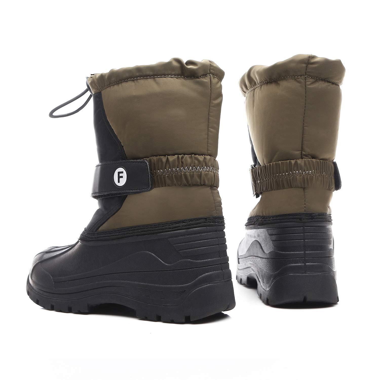 IceUnicorn Bottes de Neige gar/çon Fille dhiver Chaussures de Neige Mixte Enfant Chaudes Peluche en Doublu/é Antid/érapant Bottines
