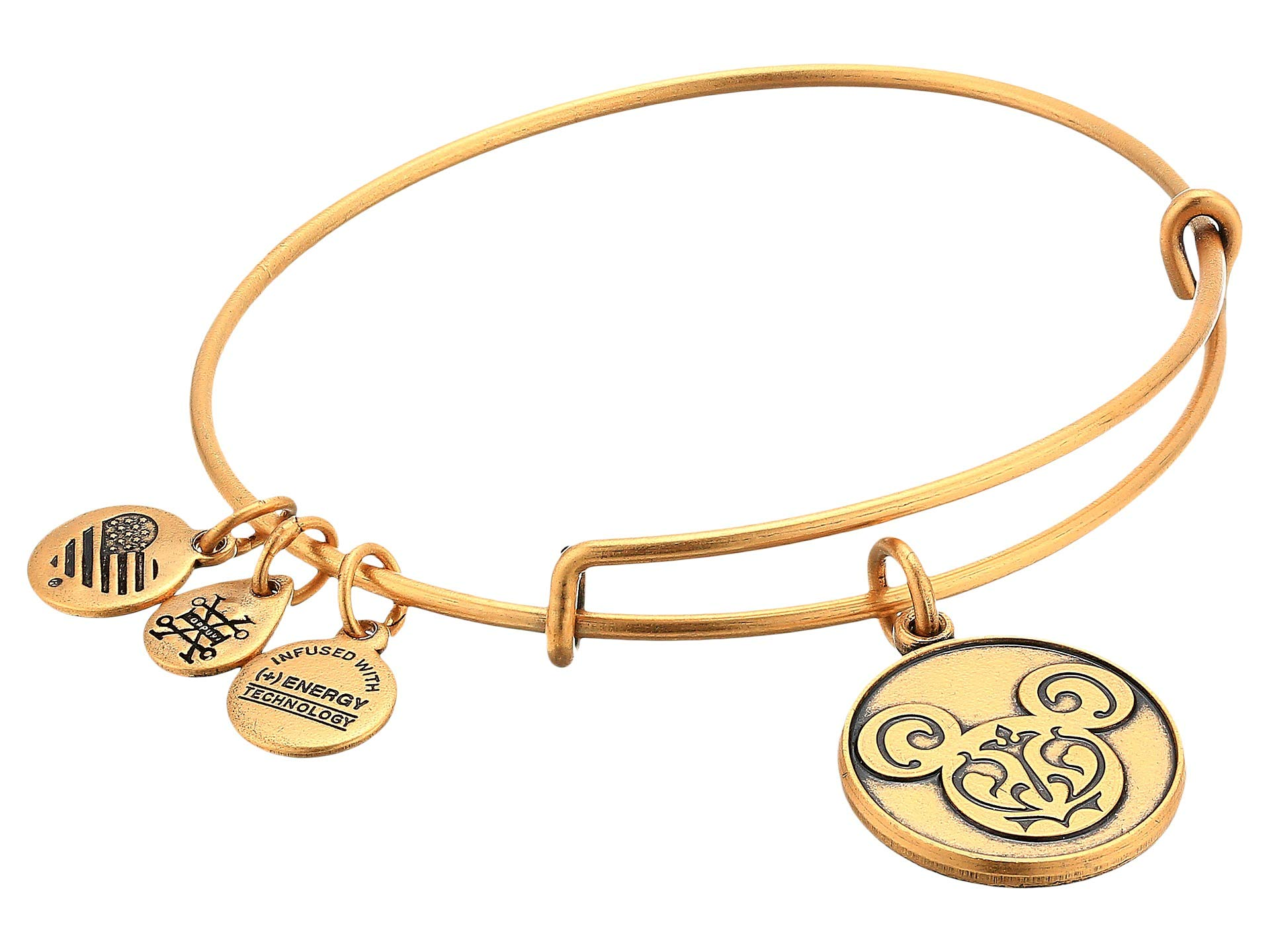 Alex And Ani Disney Mickey Filigree Rafaelian Gold Bangle Bracelet AS13DIS05RG