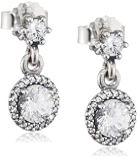 d4b323b85 Amazon.com: Pandora Vintage Allure Drop Earrings With Clear Cubic ...