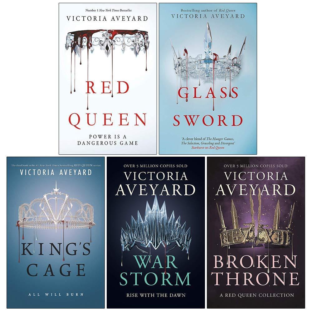 Amazon Com Victoria Aveyard Red Queen Series 5 Books Collection Set Red Queen Glass Sword King S Cage War Storm Broken Throne 9789124030872 Victoria Aveyard Red Queen By Victoria Aveyard 978 0062310644 006231064x 9780062310644 Red