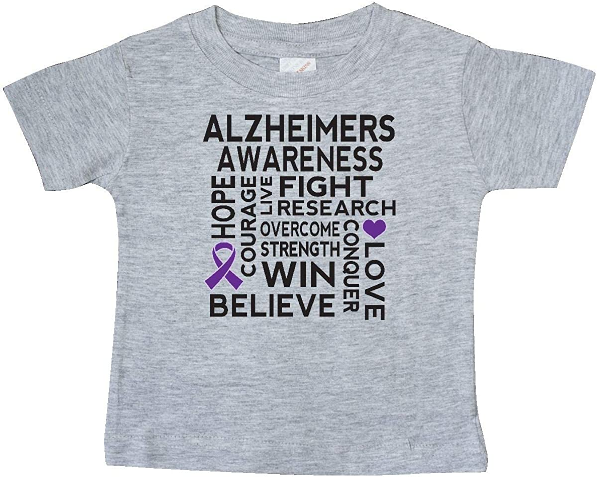 inktastic Alzheimers Awareness Find a Cure for My Great Aunt Baby T-Shirt